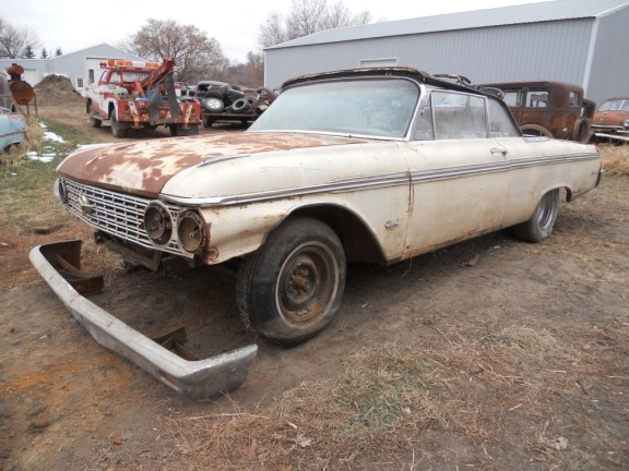 1962 ford sunliner convertible 1040 for Garage ford 62